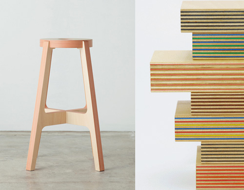 Paper-Wood chairs by Drill Design from Japan - Bloesem