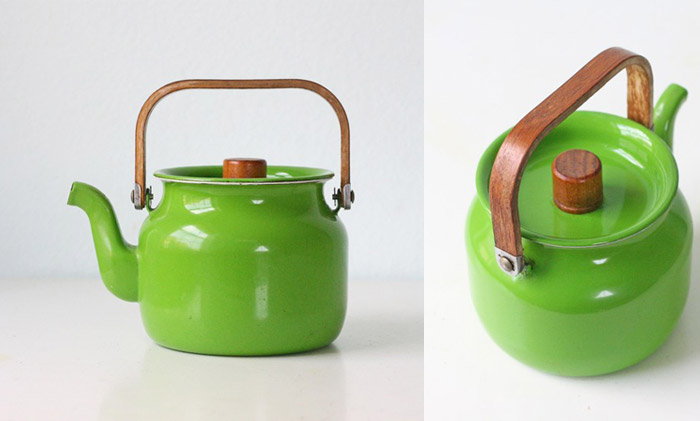 Retro-green-enamel-teapot