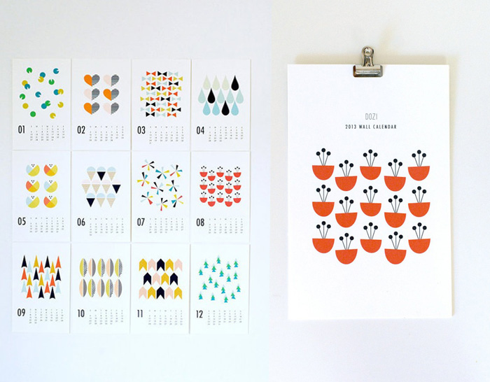 Dozi paper wall calendar simple designs that would go so well with the theme of our office actually
