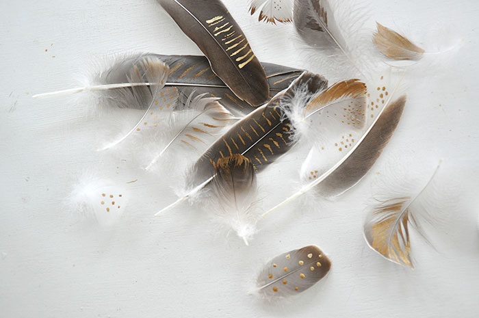 Bloesem Living | DIY Golden Feathers