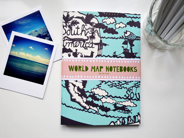 Bloesem Living | Famille Summerbelle City and World map notebooks