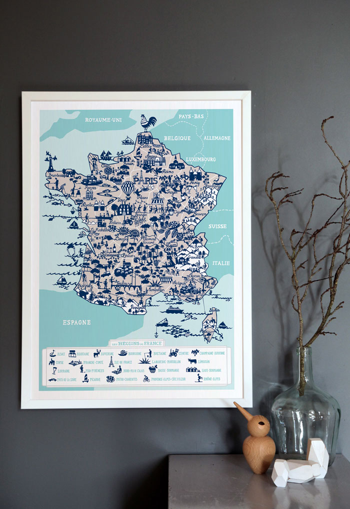 Bloesem Living | Summer time wanderlust: Famille Summerbelle Map of France