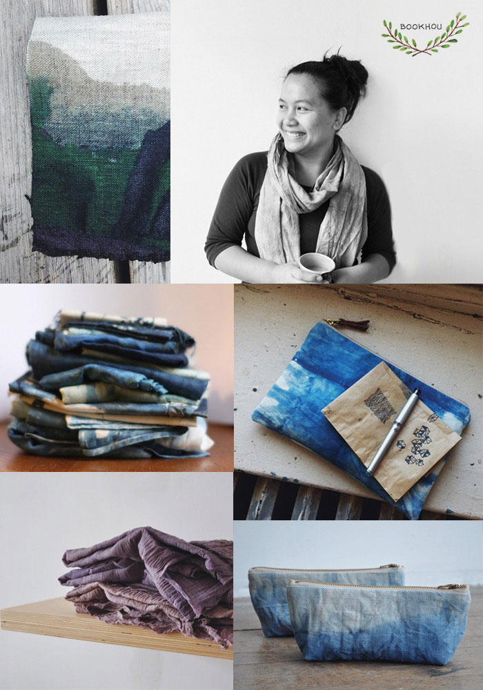 Bloesem Class Alert | Shibori dyeing with Indigo by Arounna from Bookhou, in Singapore August 28,29,30 2014.