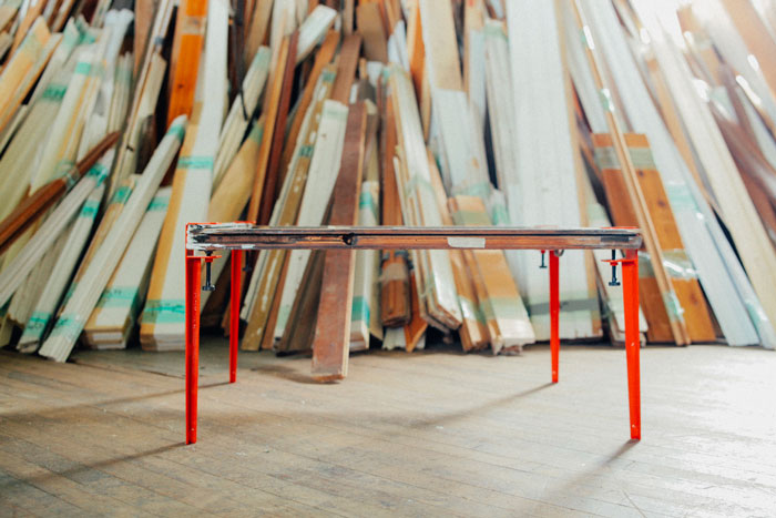 Bloesem Living | Starting the Week of with this genius design: The Floyd Leg - make a table out of any flat surface