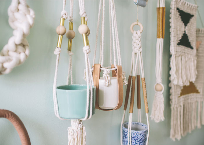 Bloesem Class Alert | Knots and Rope: Learn how to make macrame plant hangers with Natalie Miller - 14/ 15 oct 2014