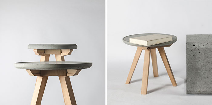 Bloesem Living | Bentu designs are a perfect combination of wood and concrete