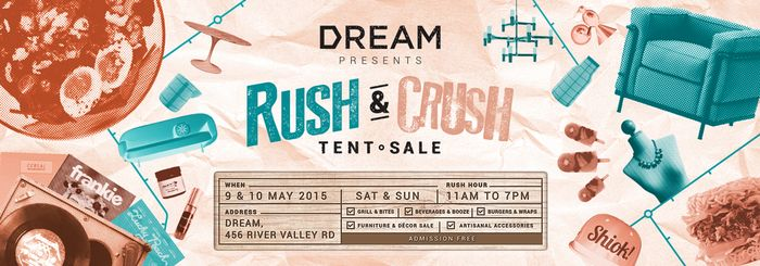 Bloesem living | DREAM's Rush & Crush tent sale- 9 to 10 May 2015