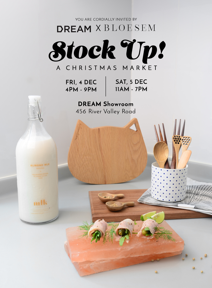 Bloesem Living | Stock Up! Christmas Market at DREAM showroom 4 and 5 Dec 2015