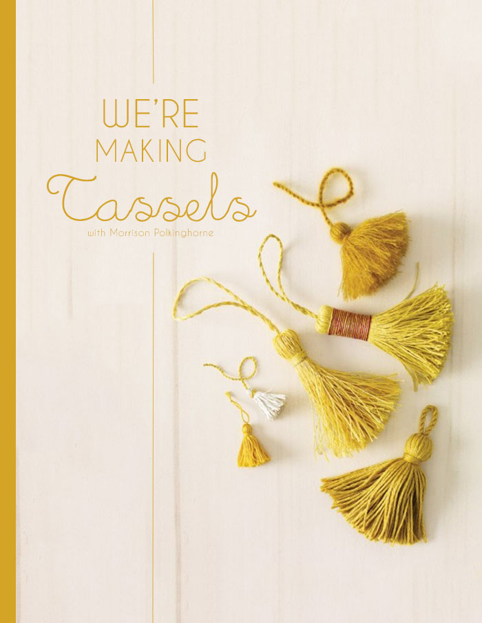 Bloesem Living | We are making Tassels guys! Bloesem class with Morrison Polkinghorne