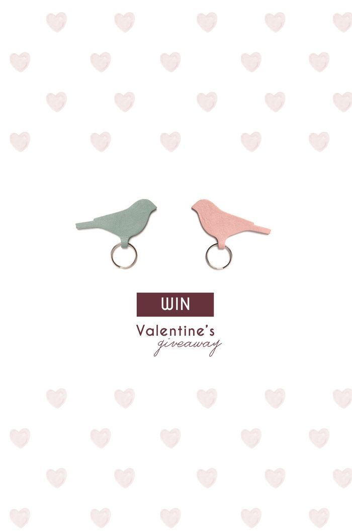 Bloesem Valentine's Giveaway | WIN a pair of leather bird key rings from Keecie