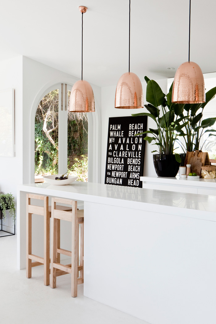 Bloesem living | Friday link love: White and copper at home