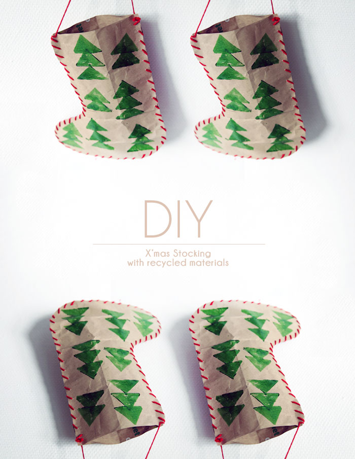 Bloesem Giving | Christmas craft : DIY Christmas stocking with recycled materials