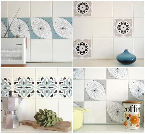 I Receieved An Email From Emma From Mibo Telling Me About These Great Tile Tattoos In Just A Few Minutes Your Kitchen Or Bathroom Can Be Completely
